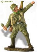 FIGURINE HACHETTE  SOLDATS DE 1914 1918 14-18  # 12A TANKISTE FRANCAIS 1915